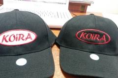 вышивка логотипа на кепках