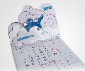 трехблочный календарь с объемными элементами