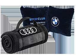 пледы, подушки, сумки, бизнес сувениры с логотипом